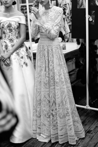 Fascinating long dress with long sleeves.