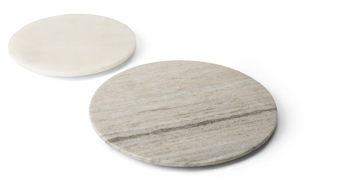 Sienna Set of 2 Mixed Marble Round Boards/ Platters