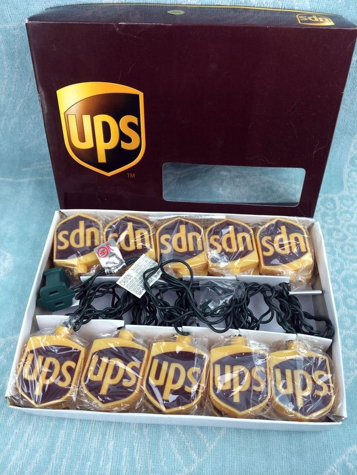 UPS United Parcel Service 20 Novelty Christmas Brown Gold Logo String Lights