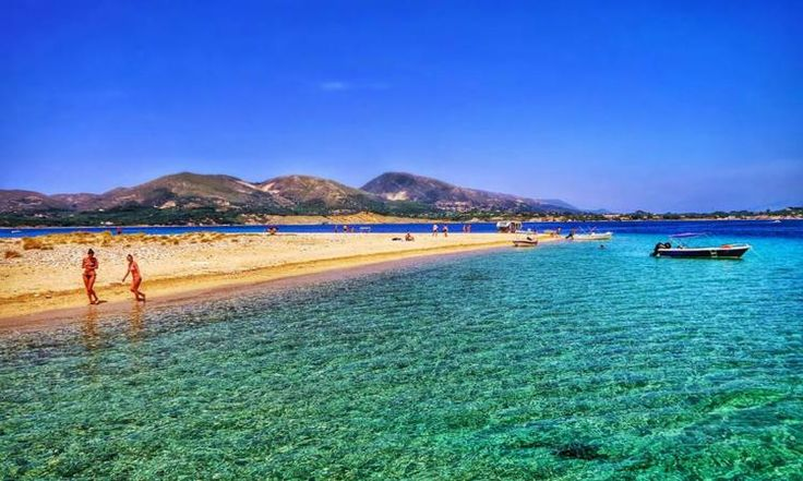 This is a tiny zakynthian island with exotic beauty being visited by the caretta turtles!