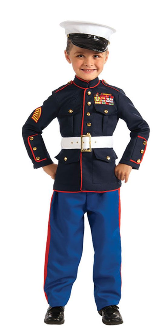 Dress Blues Marine Costume - Kids Costumes