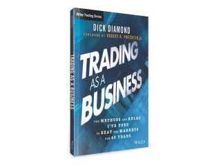 """The Methods and Rules I've Used to Beat the Markets for 40 Years  """"Trading as a Business"""" by Dick Diamond ebook gives you a behind the scenes look at how successful, veteran trader Dick Diamond analyzed the market and recognized the right time to get in and out of trades. Using his methods, tools, and techniques will transform you from an ordinary investor into a trading force in the marketplace."""
