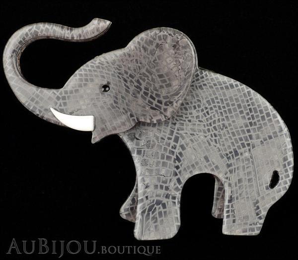 Erstwilder Brooch Pin Elizaveta The Elephant Grey Gallery