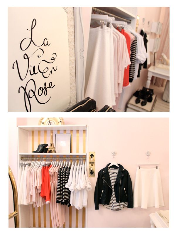 red and pale pink #boutique #merchandising