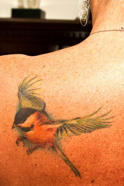 My chickadee tattoo :)
