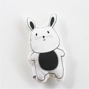 Hand printed rabbit rattle #ohswag #babytoys #oneofakind