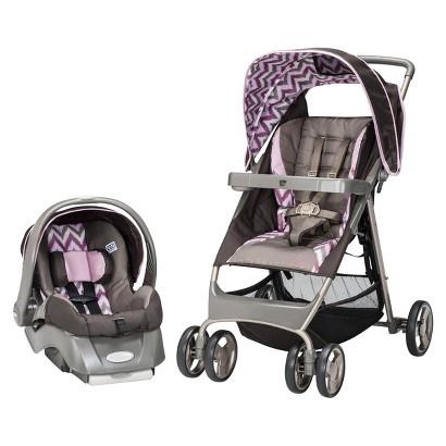 target evenflo flexlite travel system santa fe wild rose image zoom for our baby girl. Black Bedroom Furniture Sets. Home Design Ideas