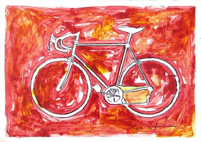 Mario Schifano's bicycles