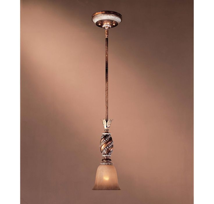"138.50     Minka Lavery 1741-206 Aston Court 1-Light Mini Pendant in Bronze in Ceiling Lights, Pendants, Mini Pendants: LightsOnline.com Item: 1741-206 Collection: Aston Court Brand: Minka Lavery Finish: Bronze Style: Tuscan/Mediterranean Height: 58"" Width: 6"" Type of Bulbs: Incandescent Number of Bulbs: 1 Max Wattage: 100 Shipping: Usually ships within 3 business Days. Glass: Avorio Mezzo Glass"