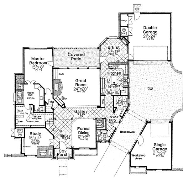images about Detached Garage on Pinterest   Garage addition    Plan FM  House Plan   Private Parking Courtyard