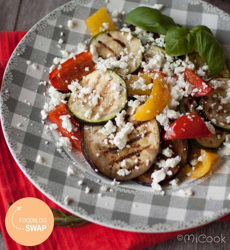 Foodblogswap - Gemarineerde gegrilde groenten