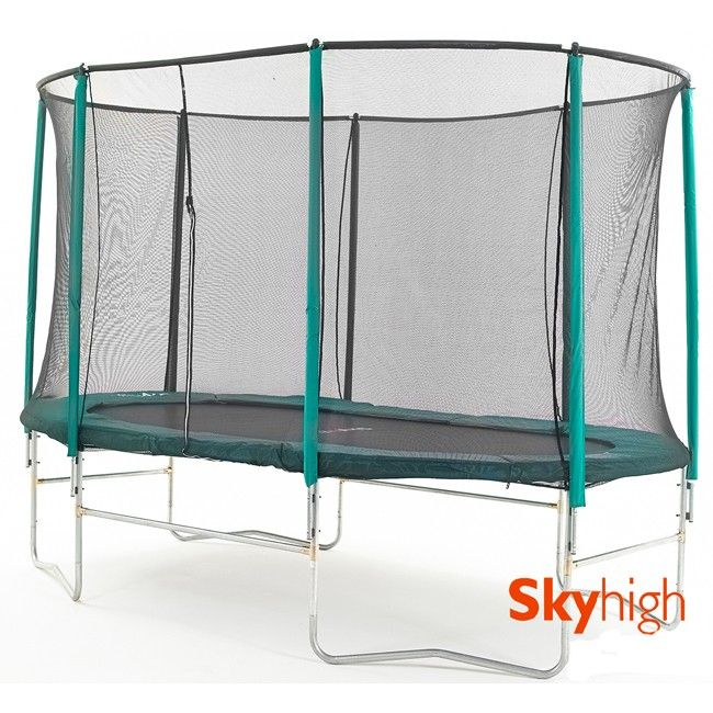 14ft x 8ft Skyhigh Oval Trampoline with Enclosure (3647)