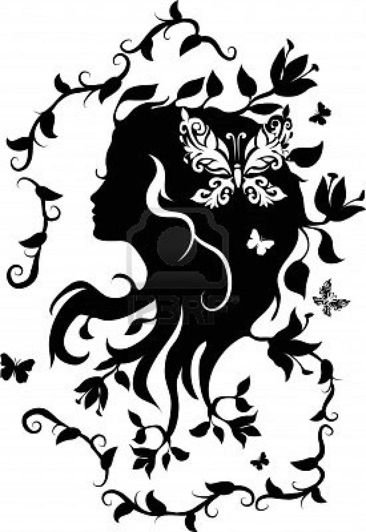 silhouette headshot | Art Lesson Ideas - Positive Negative ...