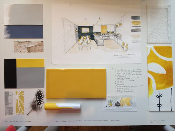 Kimberly Plested - presentation board for The Great Interior Design Challenge on BBC Two