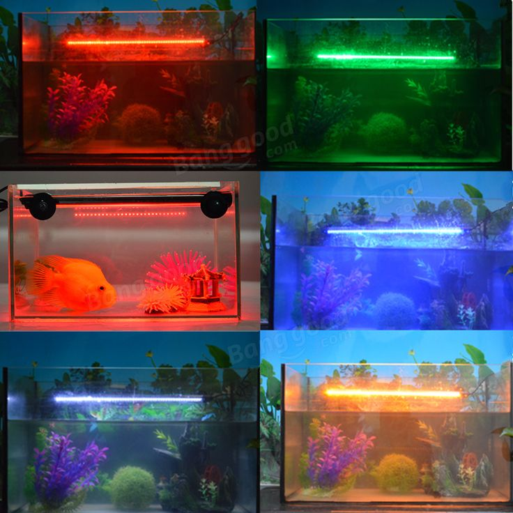 Aquarium Waterproof LED Light Lamp Bar Fish Tank Submersible Downlight Lamp