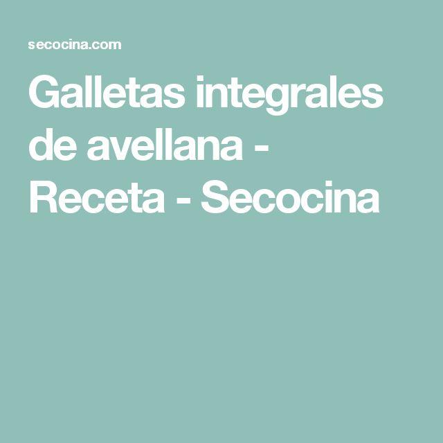 Galletas integrales de avellana - Receta - Secocina