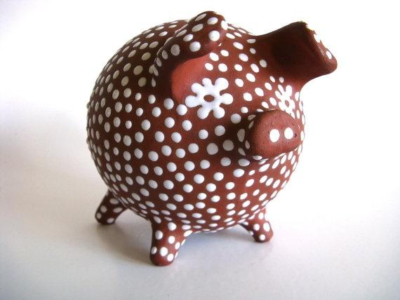 Scandinavian Redware Piggy Bank