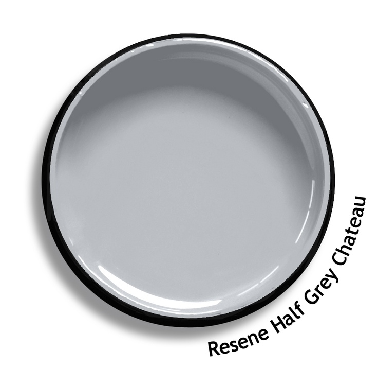 Resene Half Grey Chateau is a faded silver edged stone grey, delicate and timeless. Try Resene Half Grey Chateau with silken metallic silvers, watery lilac blues or violet blues such as Resene Exponent, Resene Half Breathless or Resene True Blue. From the Resene The Range fashion colours. Latest trends available from www.resene.co.nz. Try a Resene testpot or view a physical sample at your Resene ColorShop or Reseller before making your final colour choice.