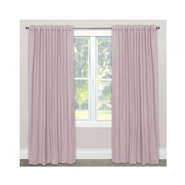 Linen Blackout Curtain Panel Purple ($150) ❤ Liked On Polyvore Featuring  Home, Home