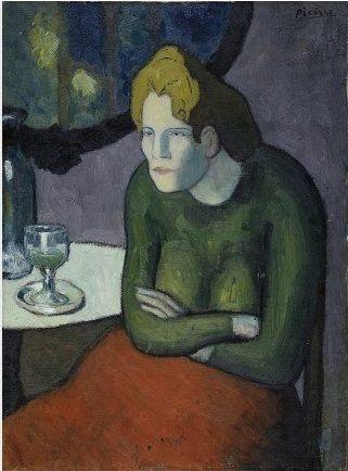 By Pablo Picasso, 1901, Buveuse d'absinthe (La bebedora de absenta)