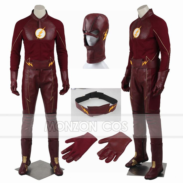 The Flash Season 2 Superhero Barry Allen Cosplay Costume Full SIZE | Clothing, Shoes & Accessories, Costumes, Reenactment, Theater, Costumes | eBay!