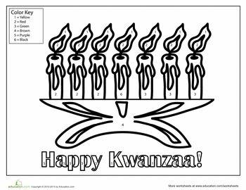 Worksheets: Kwanzaa Coloring Page