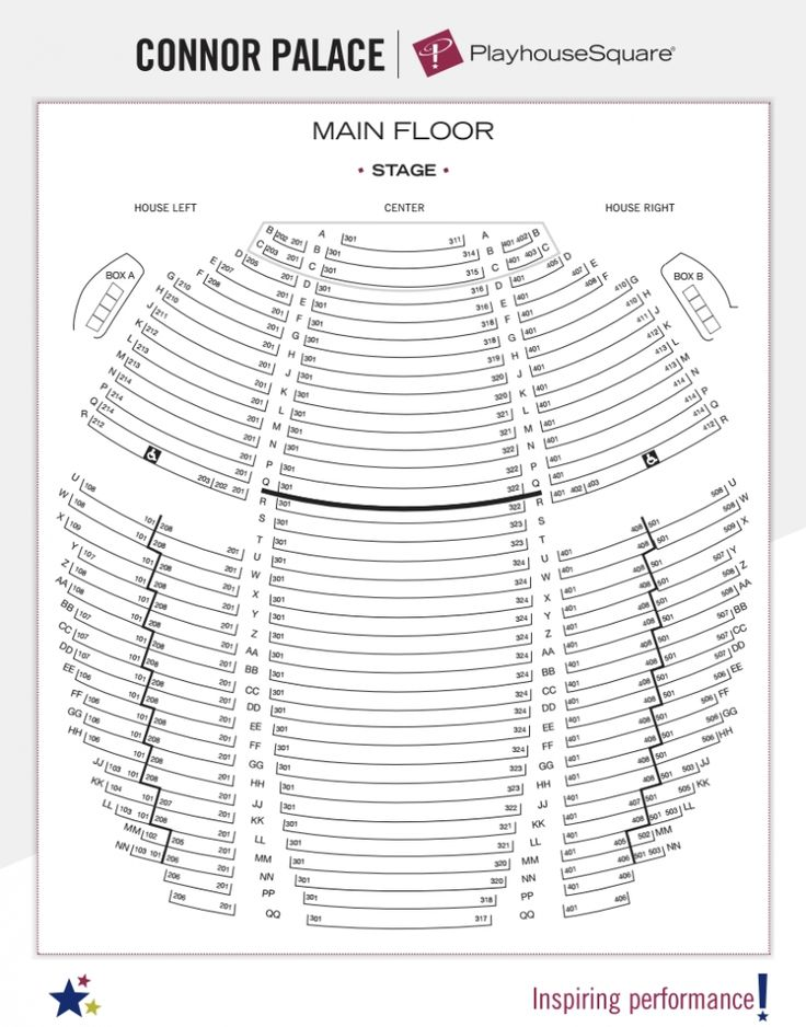 Sandler Center Seating Chart In 2020 Playhouse Square Seating Charts State Theatre