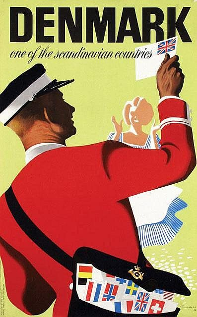Denmark vintage poster