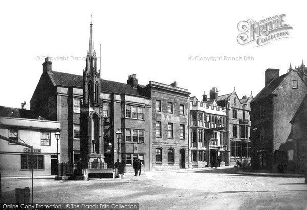 Glastonbury, Cross And Market Place 1890, from Francis Frith