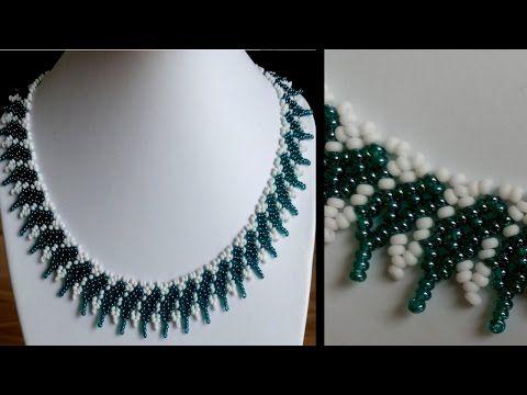 [Anleitung/Tutorial] Einfache Kette mit zwei großen Perlen im Fokus - YouTube