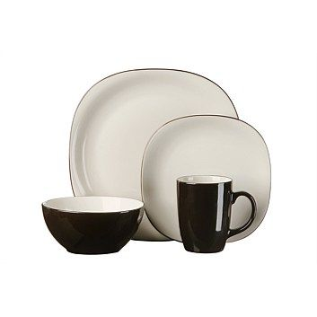 Thompson Bali Latte 16 Piece Dinner Set
