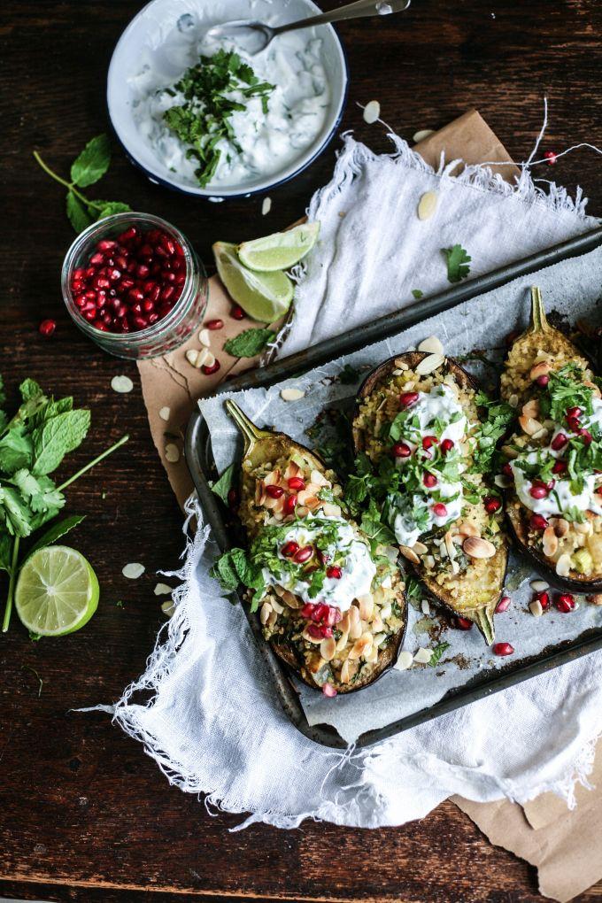 Middle Eastern Bulgur Stuffed Eggplants I Daisy and the Fox