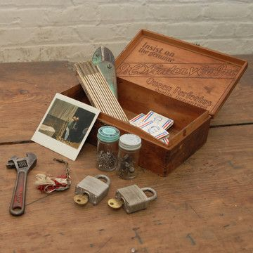 What a great idea for a gift... i bet i have three or four boxes in the garage and this is yard sale season so the hunt for the tools is on!  Handyman Special Care Package now featured on Fab.