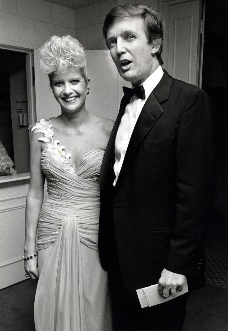 A Look Back at Donald Trump'sThree Marriages | Much like he's a man of many thoughts (some of them deeply controversial), Donald Trump is a man of many wives. The reality television star-turned-presidential candidate has been married not once, not twice, but thrice, and the photos are iconic. Well, the ones we could find. Please prepare for what's about to happen, because Donald is serving major hair in these snaps. Just...no words.