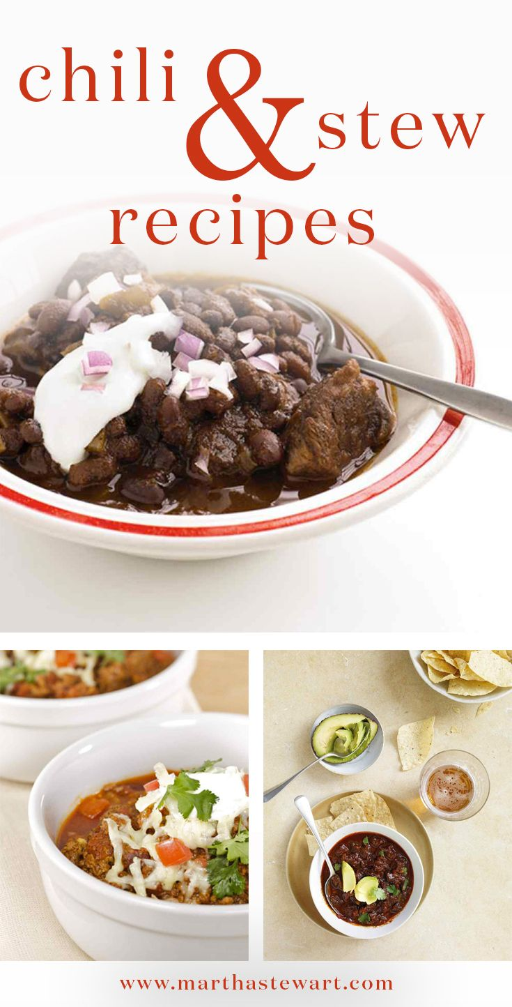 Chili and Stew Recipes | Stew, Chili and The o'jays