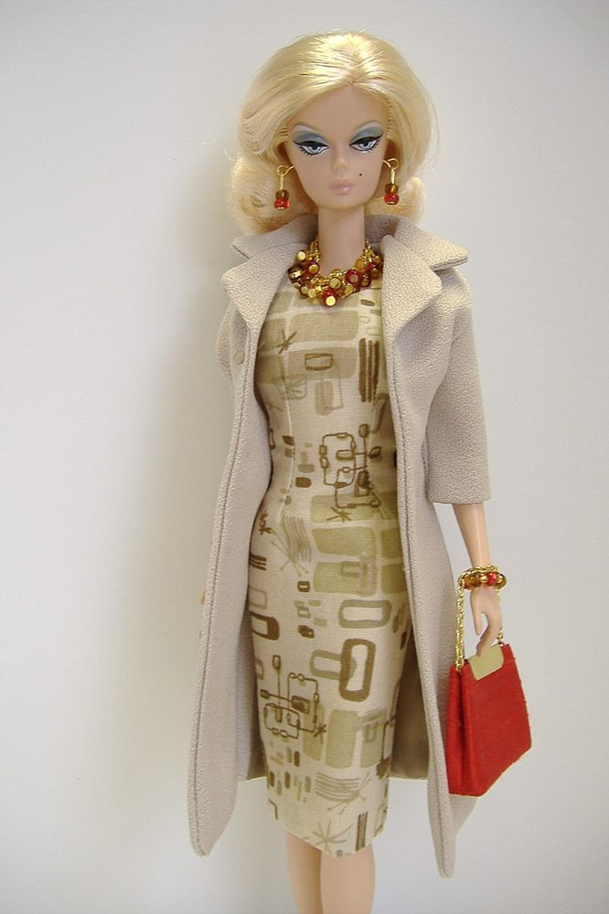 Handmade Coat and Dress for Silkstone Fashion Model Barbie ( Little Garments )