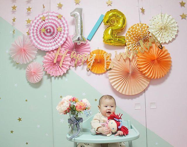 . . . 先日ハーフバースデイでした🎂✨ . 最近出産した時のことよく思い出す☺️ 6ヶ月早いな〜! . . . . #一眼レフ #一眼レフ初心者 #baby #babygirl #赤ちゃん #ベビー #ベビーコーデ #生後5ヶ月 #女の子 #女の子ママ #女の子ベビー #コドモノ #ママリ #ベビフル #親バカ部 #親バカ部ig_baby #ハーフバースデー #halfbirthday #kidsroom #babyroom #子供部屋 #アッフルチェア #生後6ヶ月