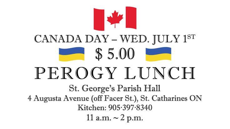 Українська Православна Церква в Канаді   Східна Єпархія   Canada Day 2015 $5.00 Perogy Lunch