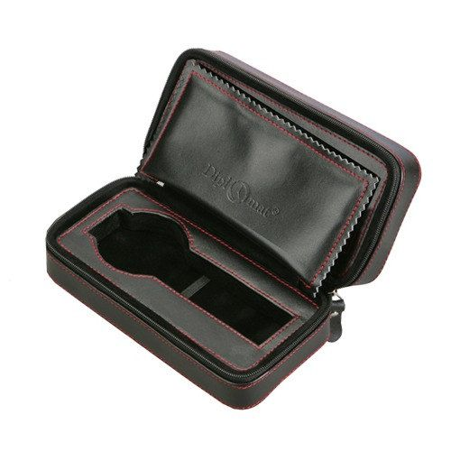 Diplomat Black Leather 2 Watch Travel Case by AAjewelrysupply, $33.99
