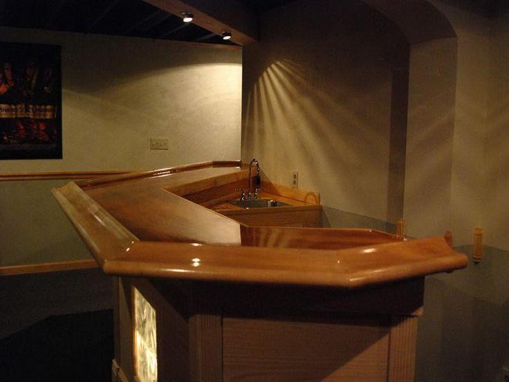 simple bar rail molding design ideas