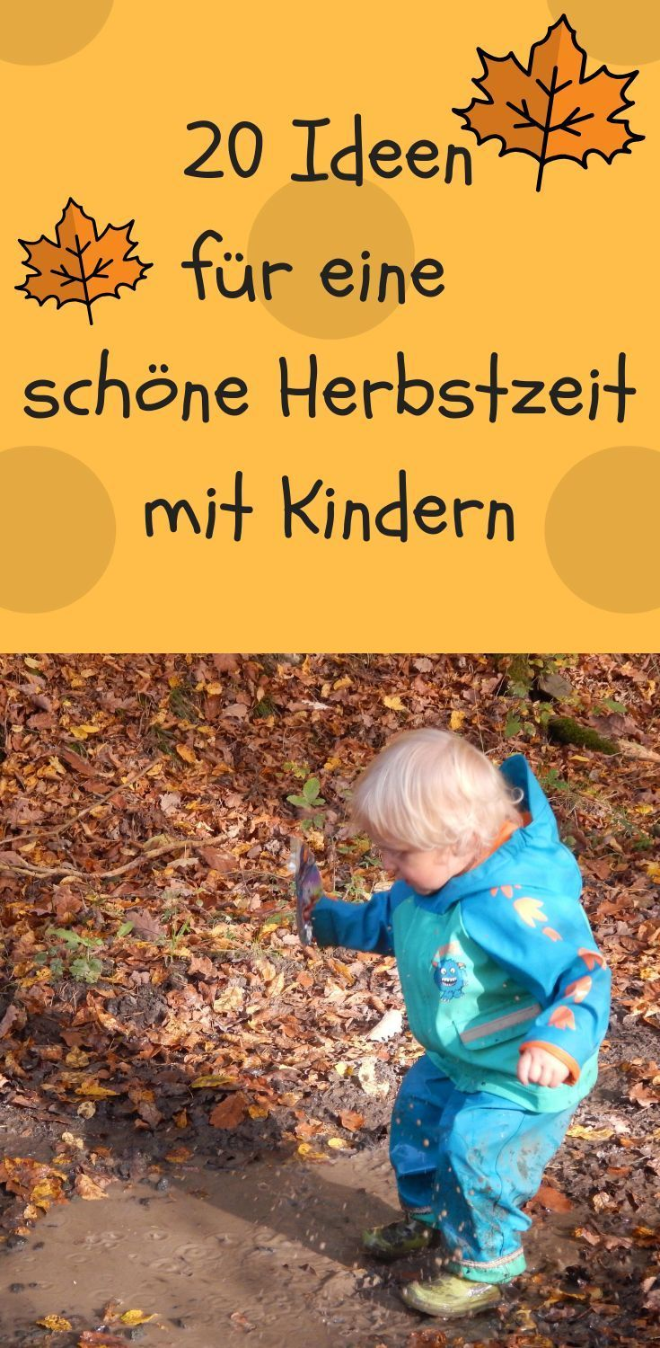 we have 20 ideas how we want to design our autumn with the kids. With outflows into the corn labyrinth, with chestnuts and leaves tinker, ap …