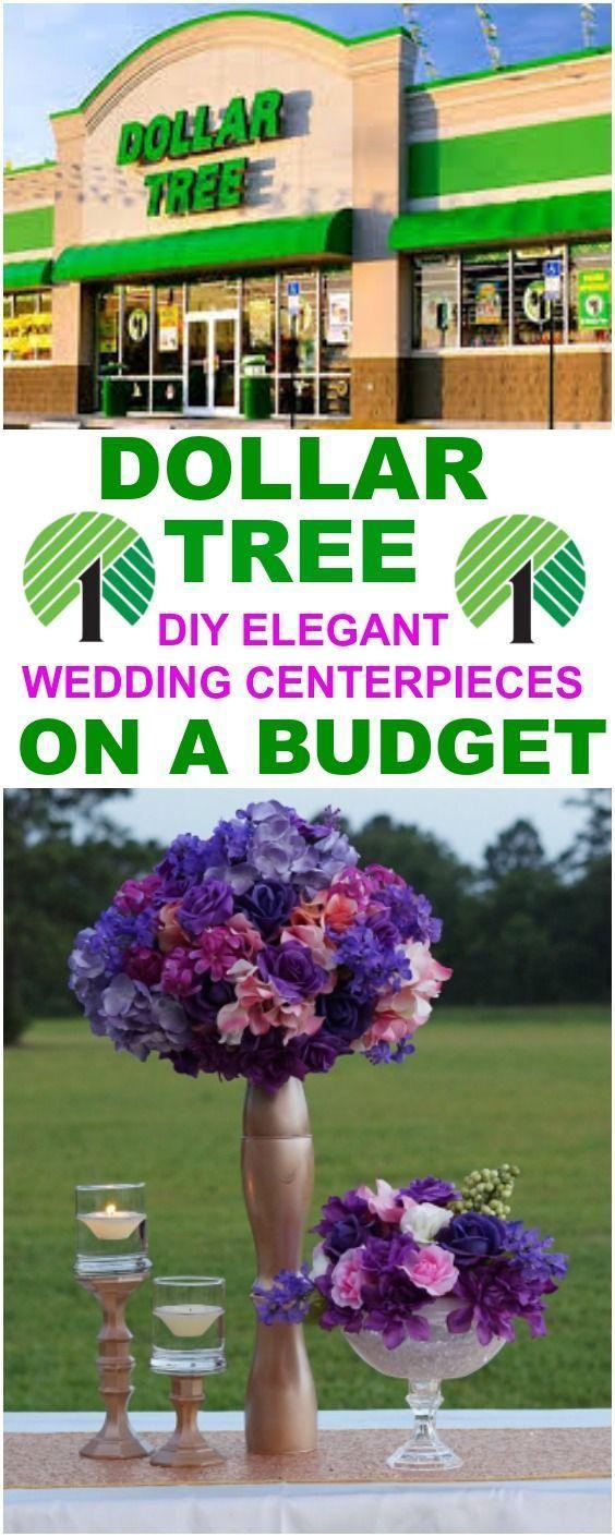 Diy elegant wedding decorations  DIY Dollar Tree Inspired Elegant Wedding Centerpieces On A Budget in