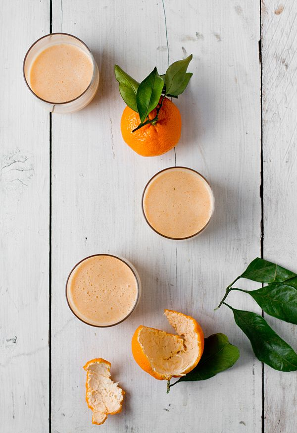 Mango Mandarin Almond Smoothie - I replaced the honey with coconut nectar. YUM!