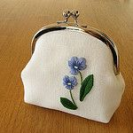 violet snap frame purse, no.3 작성자 y * handmade