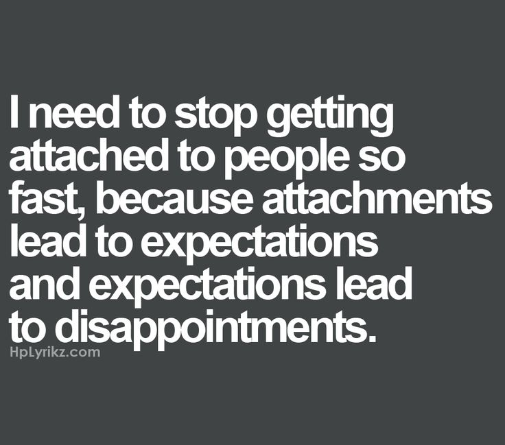 Avoid getting attached dating