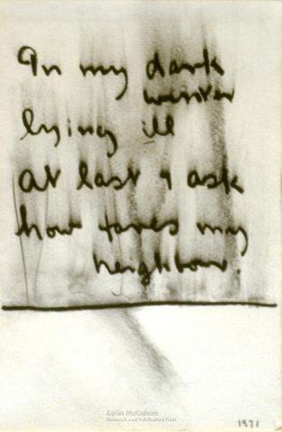 In my dark winter, 1971 - Colin McCahon