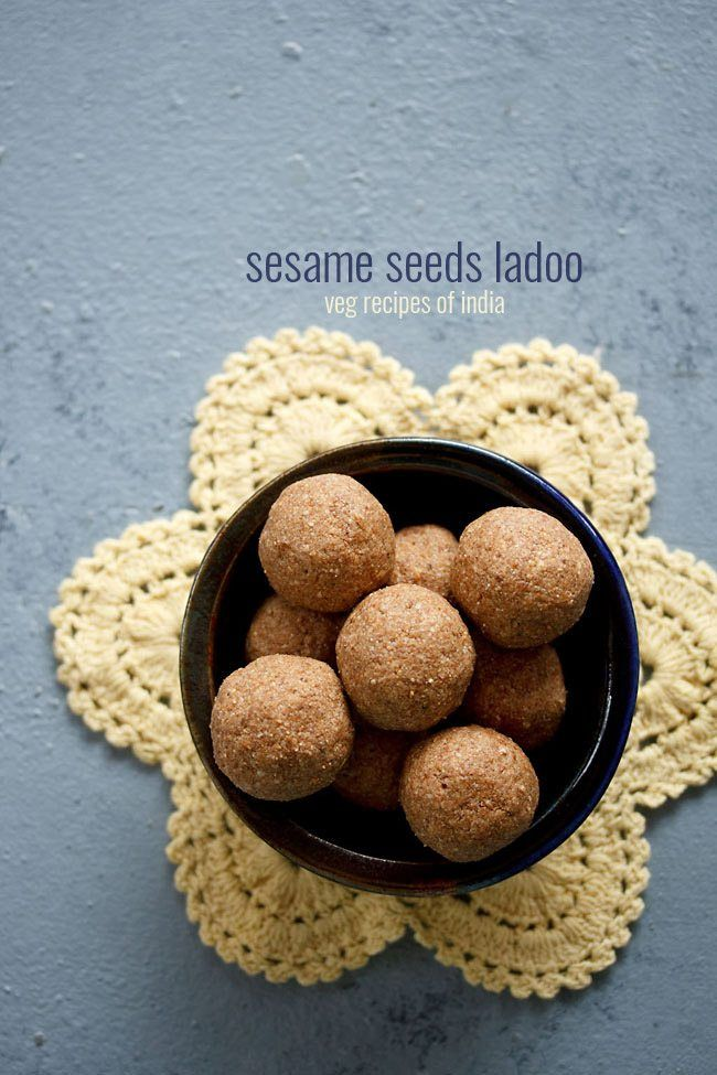 til ke ladoo recipe - easy recipe of delicious ladoos made with sesame seeds, peanuts, desiccated coconut and jaggery. #ladoo #tilladoo