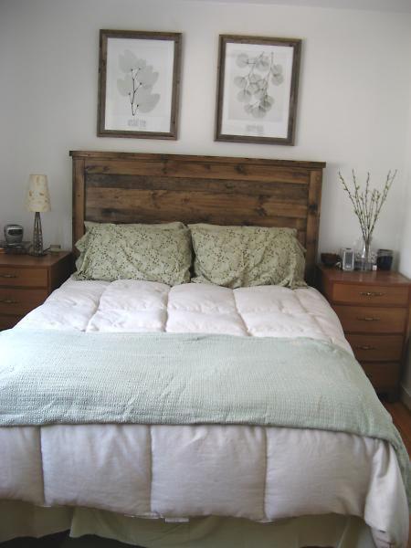17 best diy bed images on pinterest bedrooms for the for Diy queen wood headboard