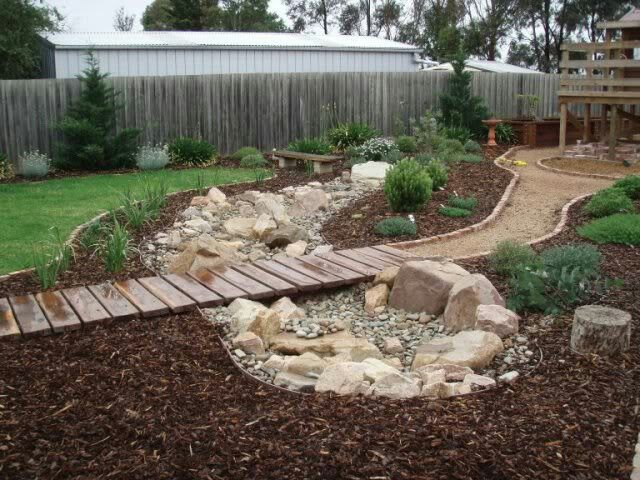 Dry River Bed Garden Ideas Dry Creek Bed For Yard
