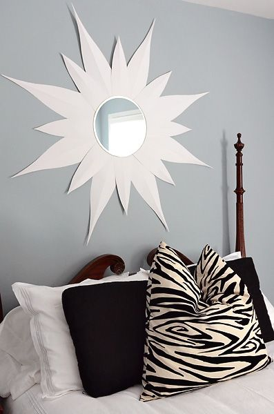 DIY Tutorial - Sunburst Posterboard Mirror! Super Easy!!
